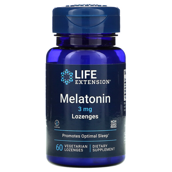 Life Extension, Melatonin, 3 mg, 60 Vegetarian Lozenges