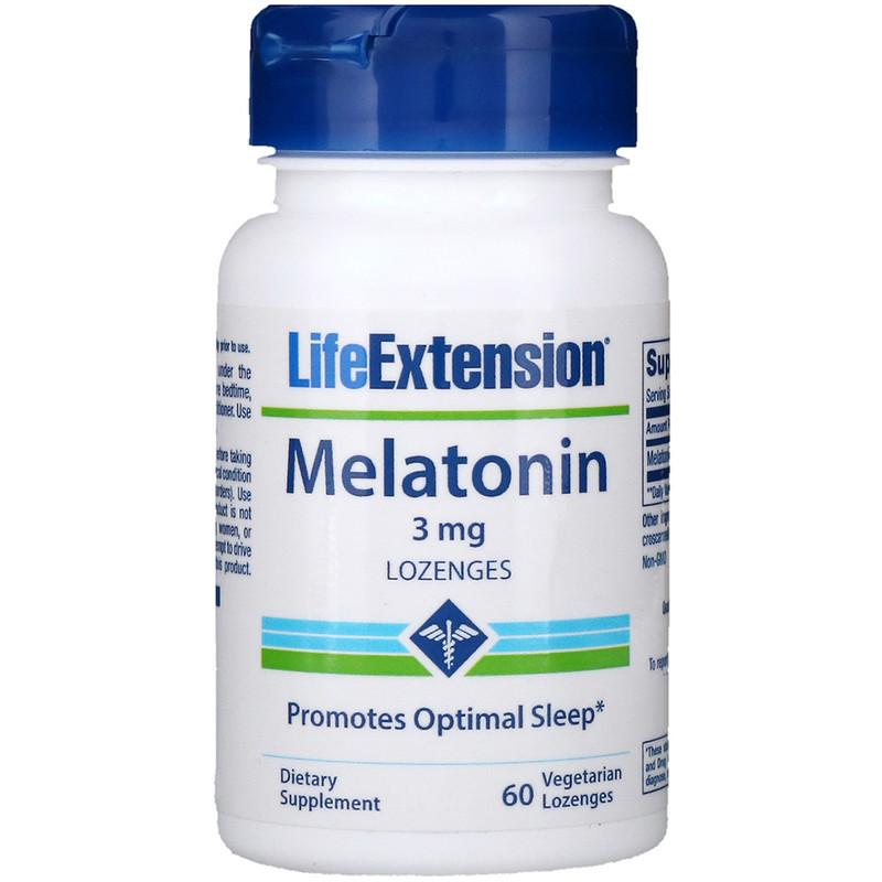 Melatonin, 3 mg, 60 Vegetarian Lozenges