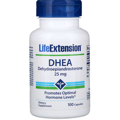 Life Extension, ДГЭА, 25мг, 100капсул