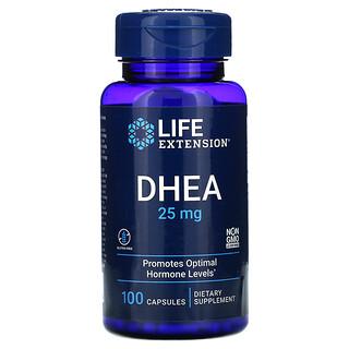 Life Extension, ديهيدرو إيبي آندروستيرون، 25 ملجم، 100 كبسولة