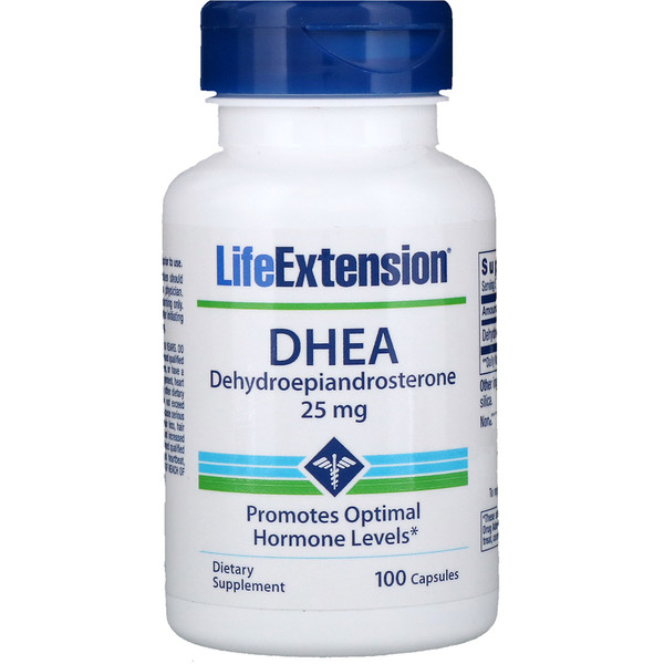Life Extension, DHEA, 25 mg, 100 cápsulas