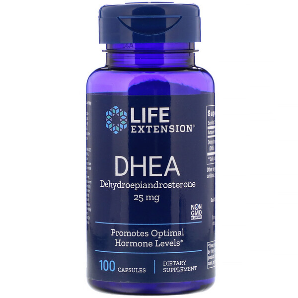 "Life Extension, DHEA, 25 מ""ג, 100 כמוסות"