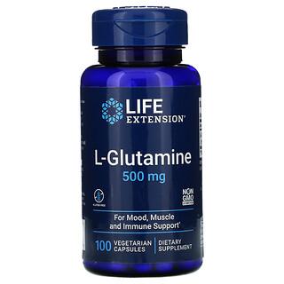 Life Extension, L-Glutamine, 500 mg, 100 Vegetarian Capsules