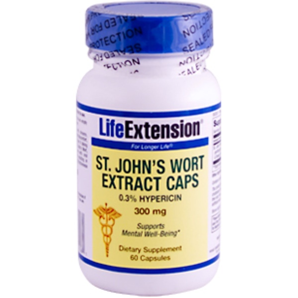 Life Extension, St. John's Wort Extract Caps, 300 mg, 60 Capsules (Discontinued Item)