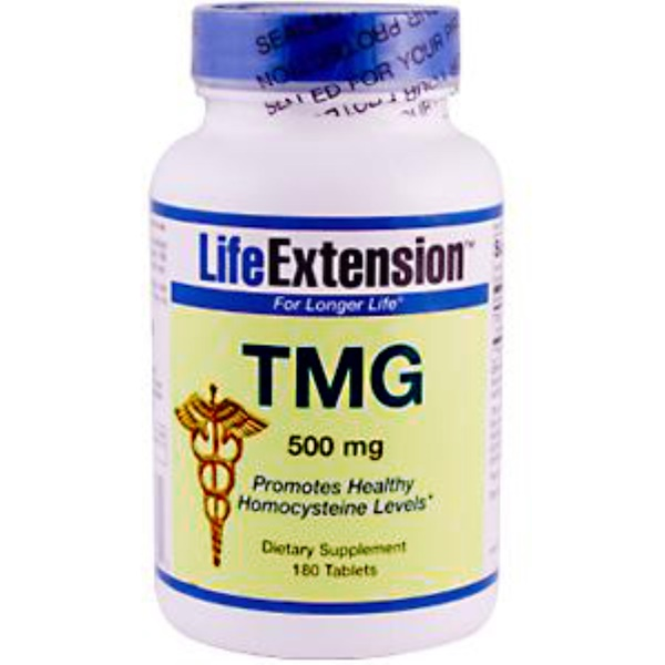 Life Extension, TMG, 500 mg, 180 Tablets (Discontinued Item)
