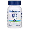 Life Extension, B-12, 500 mcg, 100 Lozenges