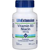Отзывы о Life Extension, ВитаминB3 (ниацин), 500мг, 100капсул