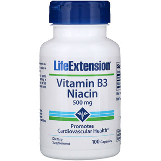Life Extension, Vitamin B3 Niacin, 500 mg, 100 كبسولة