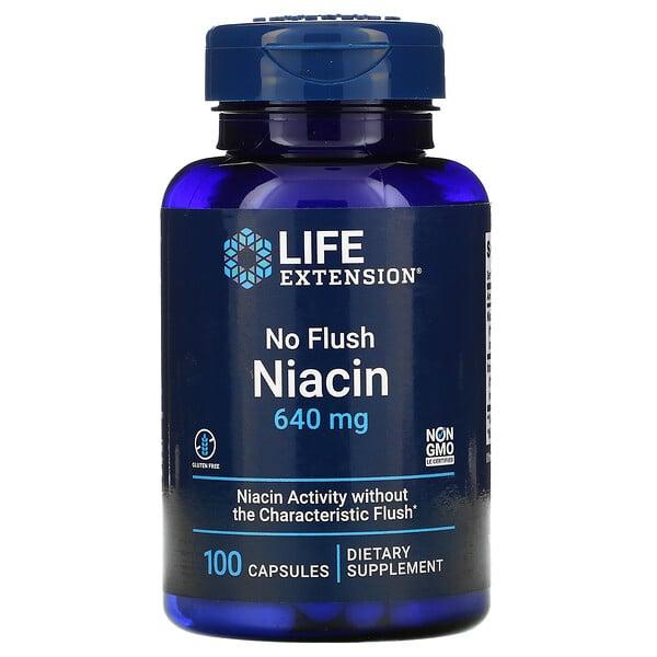 No Flush Niacin, 640 mg, 100 Capsules