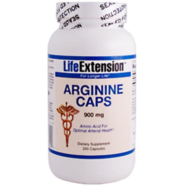 Life Extension, Arginine Caps, 900 mg, 200 Capsules (Discontinued Item)