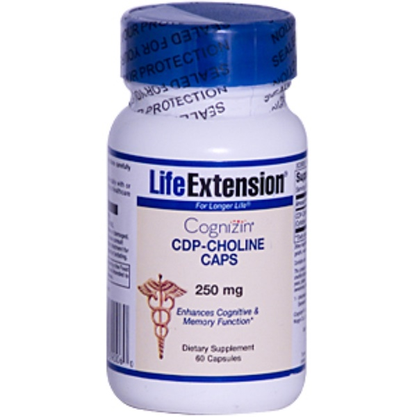 Life Extension, Cognizin, CDP-Choline Caps, 250 mg, 60 Capsules (Discontinued Item)