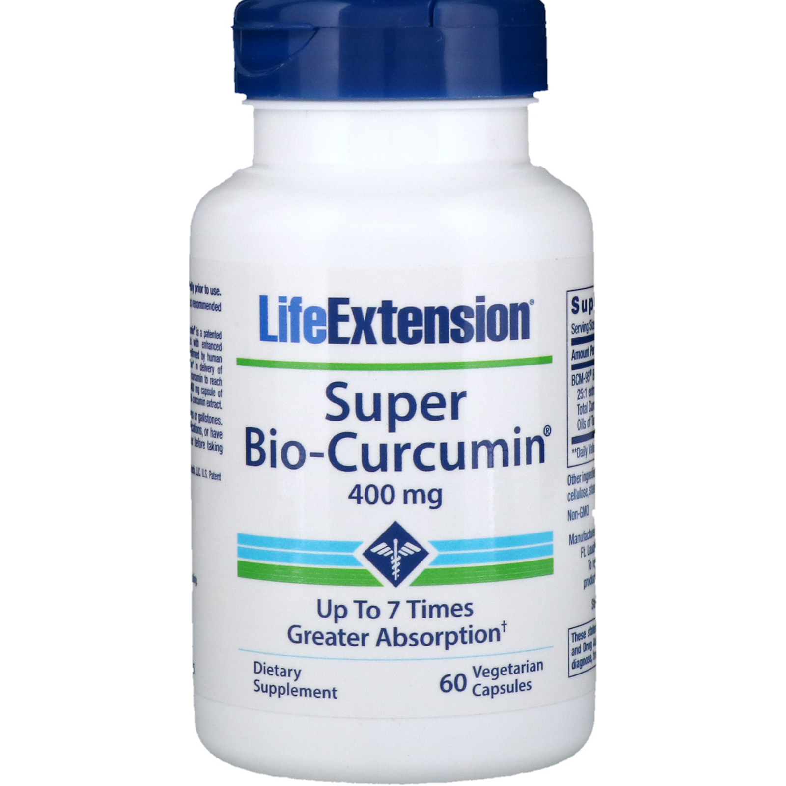 Life Extension, Super Bio-Curcumin, 400 mg, 60 Vegetable