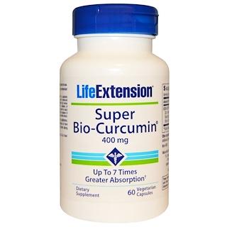 Life Extension, スーパーバイオクルクミン, 400 mg, 60粒(ベジタリアンカプセル)