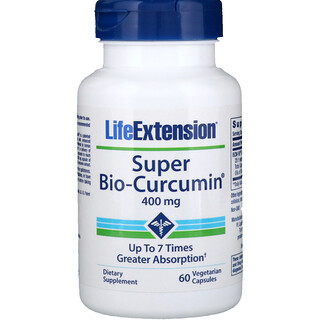 Life Extension, Super Bio-Curcumin, 400 mg, 60 cápsulas vegetales