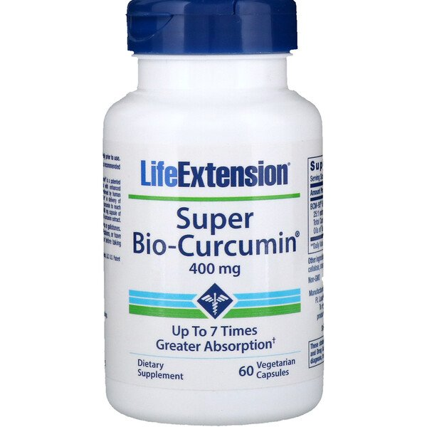 Life Extension, Super Bio-Curcumin, curcumine 400 mg, 60 gélules végétales (Discontinued Item)