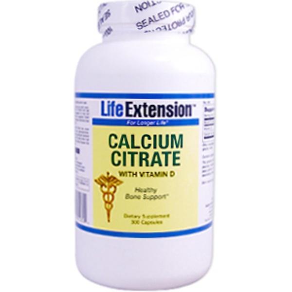 Life Extension, Calcium Citrate with Vitamin D 3, 300 Capsules (Discontinued Item)