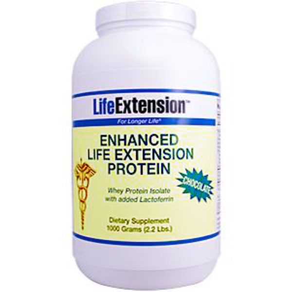 Life Extension, Enhanced Life Extension Protein, Chocolate, 1,000 g (2.2 lbs) (Discontinued Item)