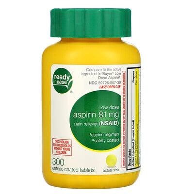 Life Extension аспирин, низкая дозировка с защитным покрытием, 81мг, 300таблеток, покрытых кишечнорастворимой оболочкой