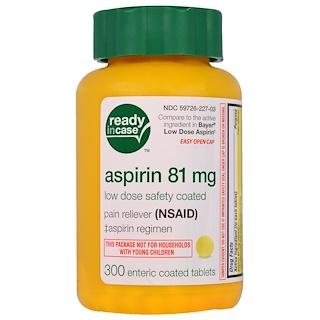 Life Extension, アスピリン、低量、安全コーディング、81 mg、300 腸溶錠