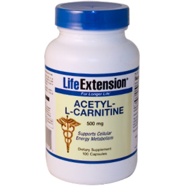 Life Extension, Acetyl-L-Carnitine, 500 mg, 100 Capsules (Discontinued Item)