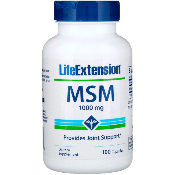 Life Extension, MSM, 1000 mg, 100 Capsules