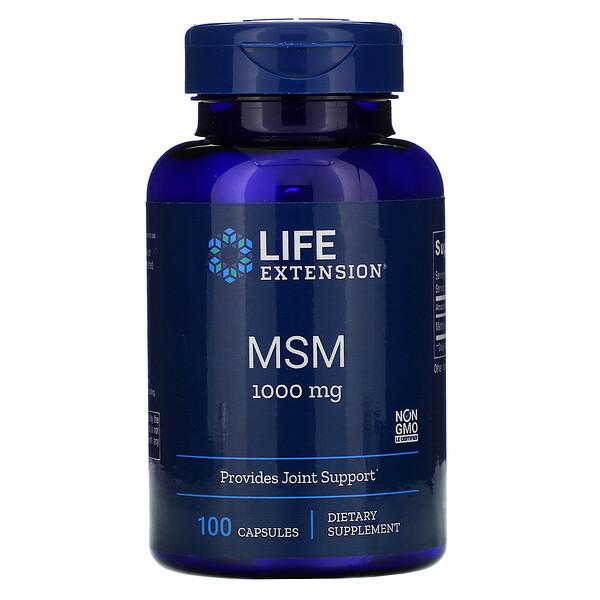 MSM, 1,000 mg, 100 Capsules
