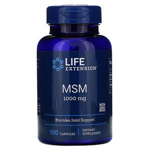 Лайф Экстэншн, MSM, 1,000 mg, 100 Capsules отзывы