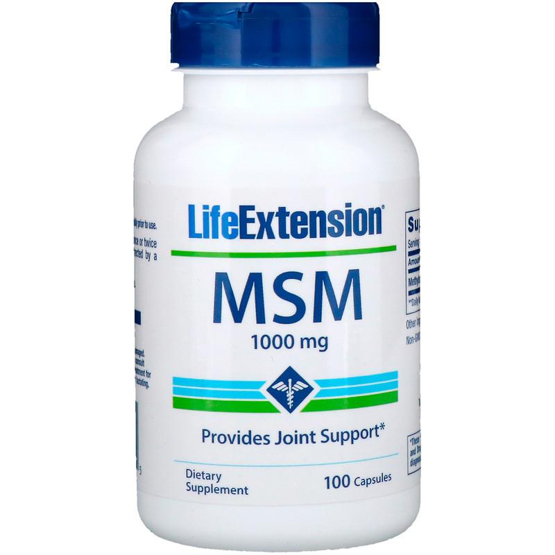 MSM, 1000 mg, 100 Capsules