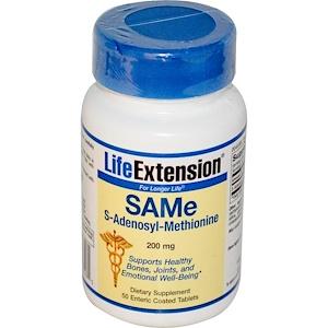 Лайф Экстэншн, SAM-e (S-Adenosyl-L-Methionine), 200 mg, 50 Enteric Coated Tablets отзывы