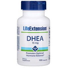 Life Extension, DHEA, 15 mg, 100 カプセル
