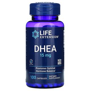 Life Extension, DHEA,15 毫克,100 粒膠囊