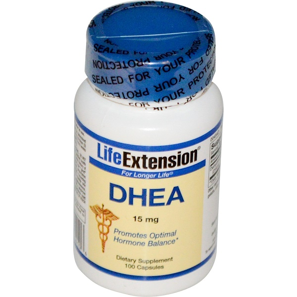 Life Extension, DHEA, 15 mg, 100 Capsules
