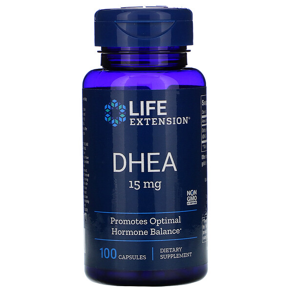 DHEA, 15 mg, 100 Capsules