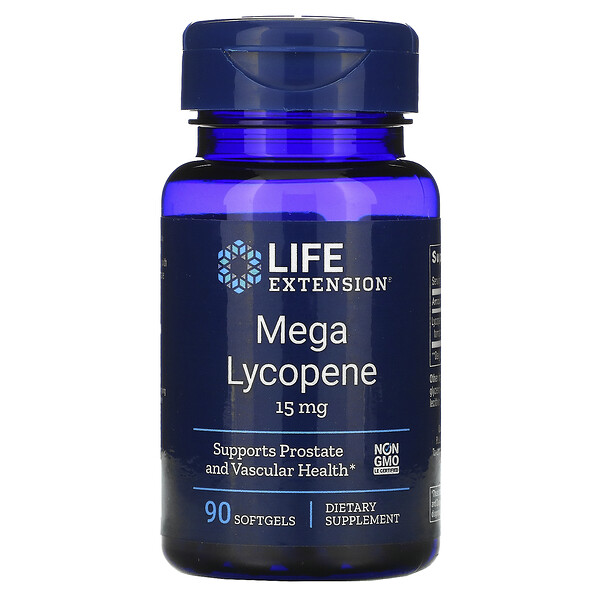 Mega Lycopene, 15 mg, 90 Softgels