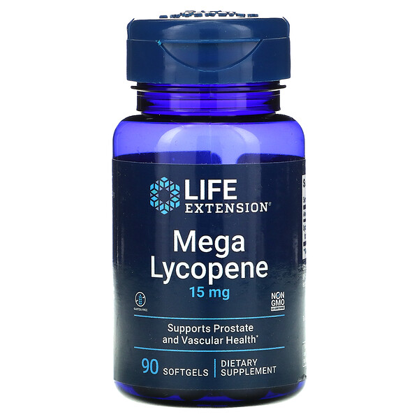 Life Extension, Mega Lycopene, 15 mg, 90 Softgels
