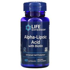 Life Extension, 含生物維生素的 α- 硫辛酸,60 粒膠囊