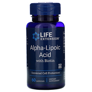 Лайф Экстэншн, Alpha-Lipoic Acid with Biotin, 60 Capsules отзывы покупателей