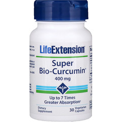 Life Extension, Super Bio-Curcumin، مقدار 400 ملغ، 30 كبسولة نباتية
