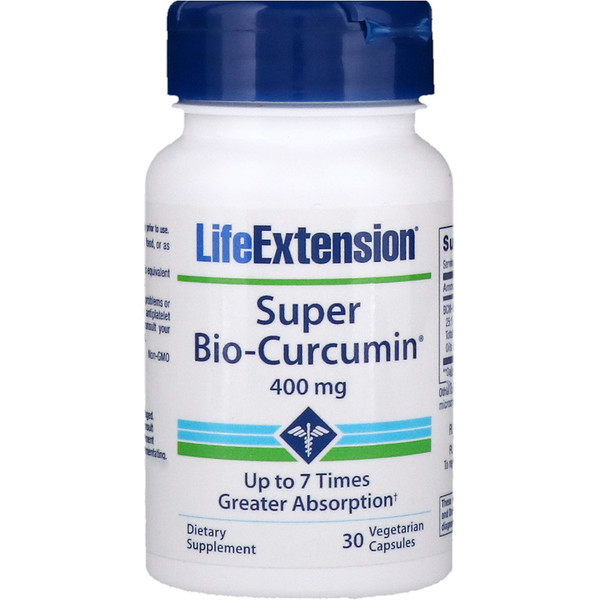 Life Extension, Super Bio-Curcumin, 400 мг, 30 вегетарианских капсул