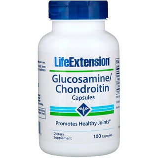 Life Extension, Cápsulas de Glucosamina/Condroitina, 100 Cápsulas