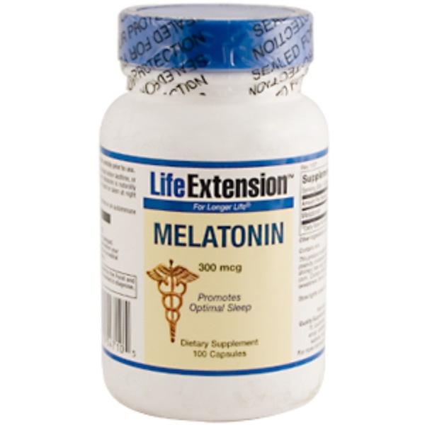 Life Extension, Melatonin, 300 mcg, 100 Capsules (Discontinued Item)