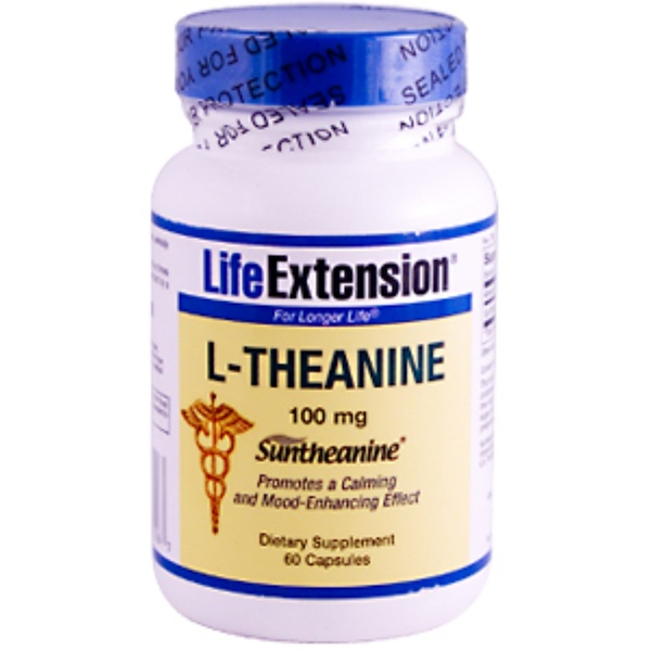 Life Extension, L-Theanine, 100 mg, 60 Capsules (Discontinued Item)