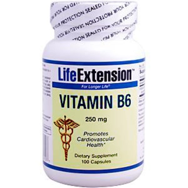 Life Extension, Vitamin B6, 250 mg, 100 Capsules (Discontinued Item)