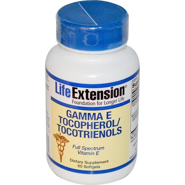 Life Extension, Gamma E Tocopherol/Tocotrienols, 60 Softgels (Discontinued Item)