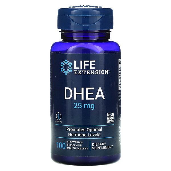 DHEA, 25 mg, 100 Vegetarian Dissolve in Mouth Tablets