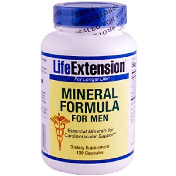 Life Extension, Mineral Formula for Men, 100 Capsules (Discontinued Item)