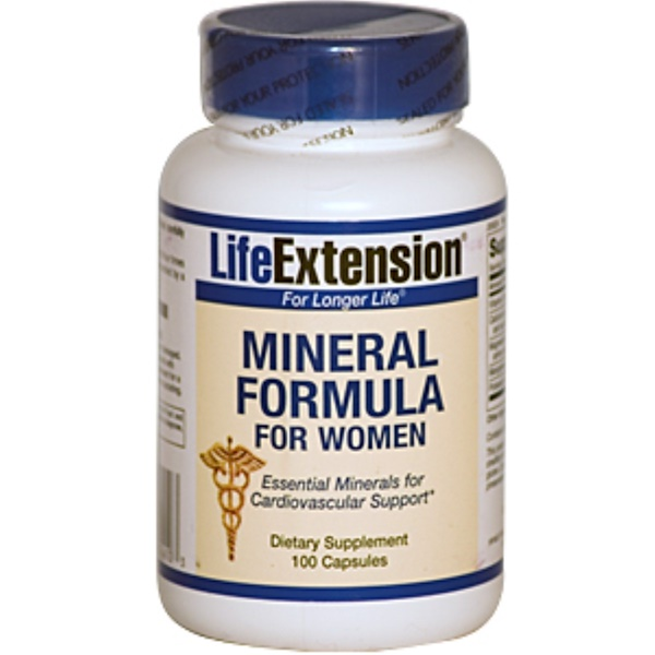 Life Extension, Mineral Formula For Women, 100 Capsules (Discontinued Item)