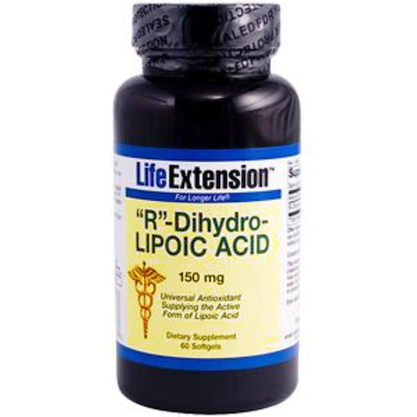Life Extension, R-Dihydro-Lipoic Acid, 150 mg, 60 Softgels (Discontinued Item)