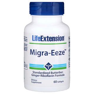 Life Extension, Migra-Eeze, 60 Cápsulas Gelatinosas