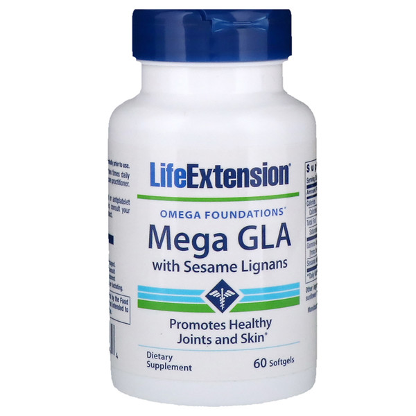 Life Extension, Mega GLA, with Sesame Lignans, 60 Softgels (Discontinued Item)